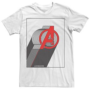Men's Marvel Avengers Stacked Lines Logo Tee