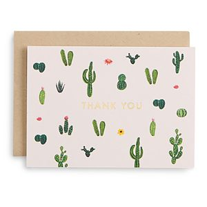 Paper Source Thank You Cacti Stationery