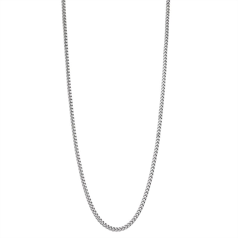 """Men's Stainless Steel Franco Chain Necklace, Size: 30"""", Black"""