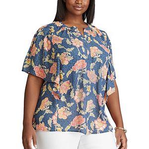 Plus Size Chaps Printed Blouse