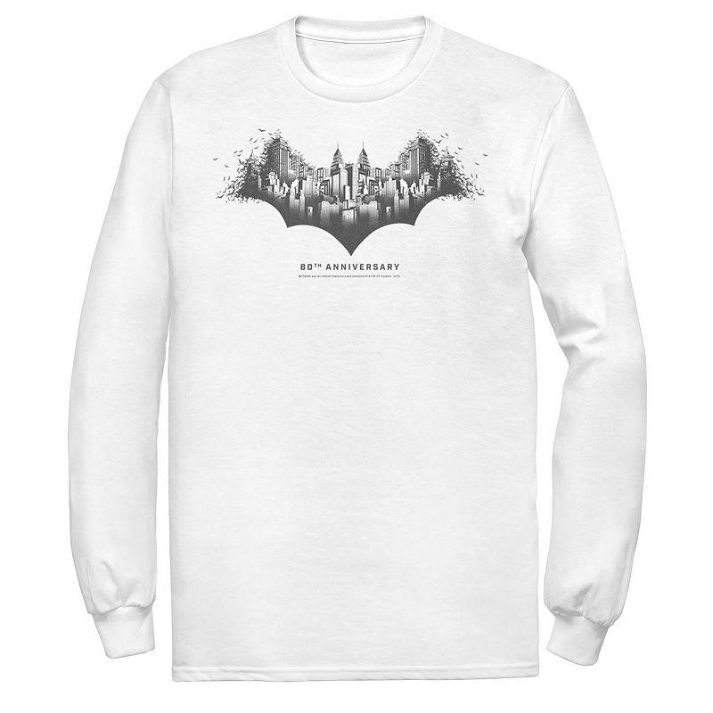 Men's DC Comics Batman Skyline Logo Tee, Size: XXL, White