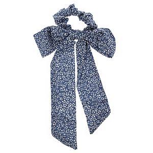 LC Lauren Conrad Blue Daisy Print Bow Scrunchie