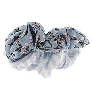 LC Lauren Conrad Floral Print and Striped Scrunchie Set