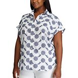 Plus Size Chaps Printed Blouse