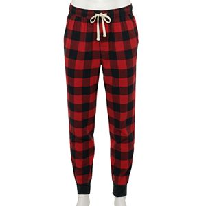 Big & Tall Sonoma Goods For Life Modern-Fit Banded-Bottom Flannel Sleep Pants