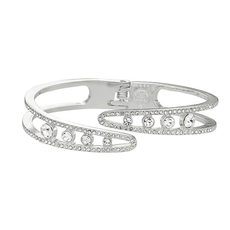 Dana Buchman Simulated Crystal Wrap Hinge Bangle Bracelet, Women's