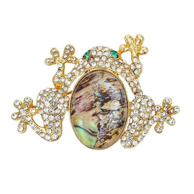 Dana Buchman Gold Tone & Abalone Multi-Stone Frog Pin, Women's