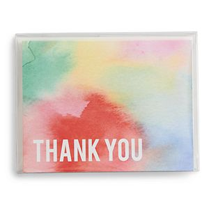 "Paper Source Watercolor ""Thank You"" Boxed Stationery Set"