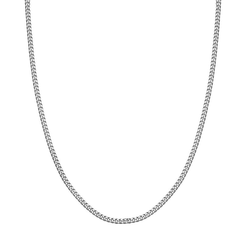"""PRIMROSE Sterling Silver Curb Chain Necklace. Women's. Size: 20"""""""