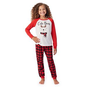 Girls 4-16 Jammies For Your Families® Cool Bear Top & Pants Pajama Set by Cuddl Duds