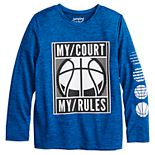"""Boys 4-12 Jumping Beans® """"My Court My Rules"""" Active Tee"""