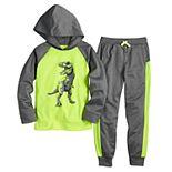 Boys 4-12 Jumping Beans® Raglan Hoodie & Jogger Pants Athletic Set