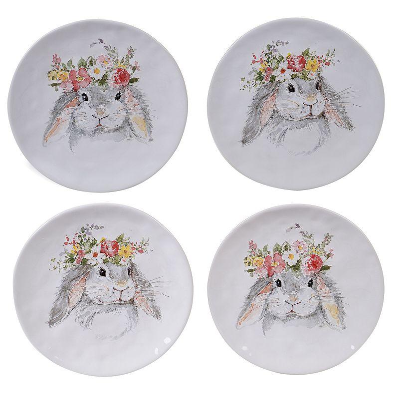 Certified International Sweet Bunny 4-pc. Dessert Plate Set