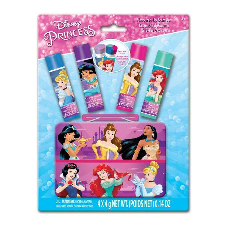 Disney Princess 4-Pack Swirl Lip Balm with Tin