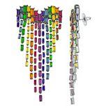 Simply Vera Vera Wang Rainbow Pride Heart Chandelier Post Earrings