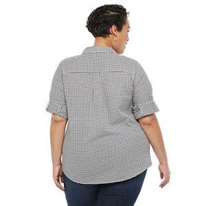 Plus Size Croft & Barrow® Double-Pocket Button-Down Shirt
