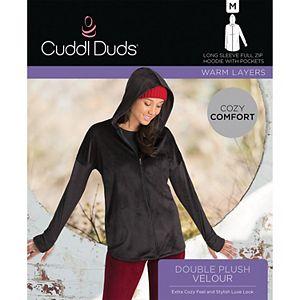Women's Cuddl Duds® Plush Velour Long Sleeve Full Zip Hoodie