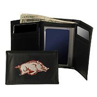 University of Arkansas Razorbacks Trifold Leather Wallet