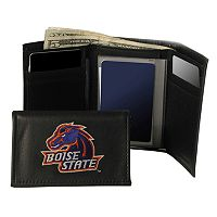 Boise State University Broncos Trifold Leather Wallet