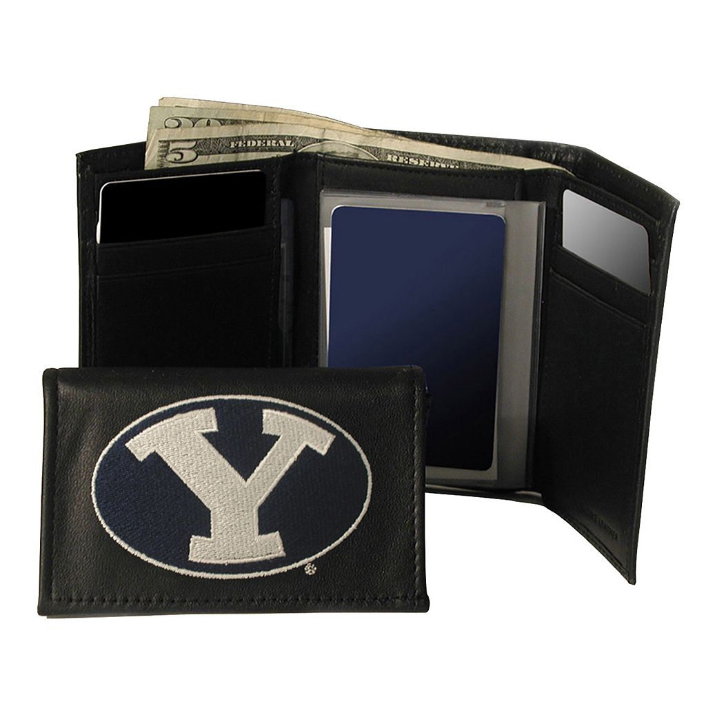 Brigham Young University Cougars Trifold Leather Wallet