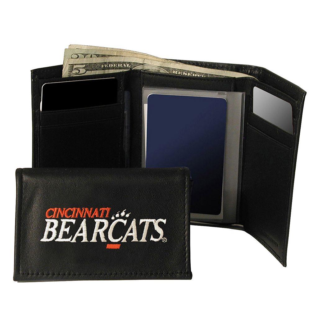 University of Cincinnati Bearcats Trifold Leather Wallet