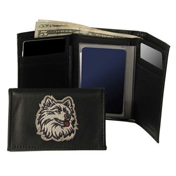 University of Connecticut Huskies Trifold Leather Wallet