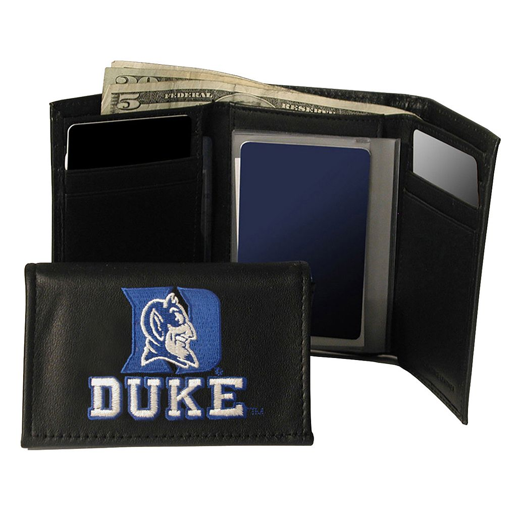 Duke University Blue Devils Trifold Leather Wallet