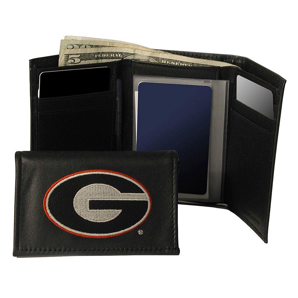 University of Georgia Bulldogs Trifold Leather Wallet