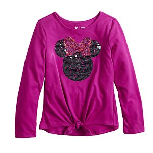 Disney Girls 4-12 Tie Front Graphic Tee by Jumping Beans®