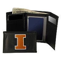 University of Illinois Fighting Illini Trifold Leather Wallet