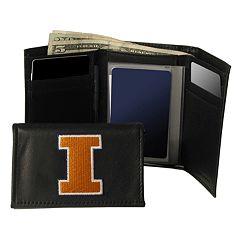 University of Illinois Fighting Illini Trifold Leather Wallet