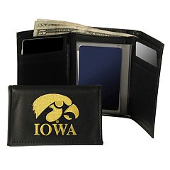 University of Iowa Hawkeyes Trifold Leather Wallet