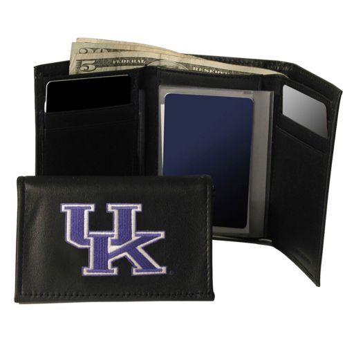 University of Kentucky Wildcats Trifold Leather Wallet