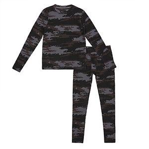 Boys 4-20 Cuddl Duds Textured 2-piece Base Layer Set