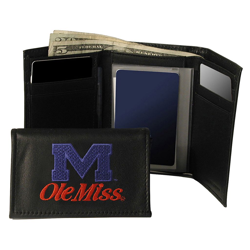 University of Mississippi Rebels Trifold Leather Wallet
