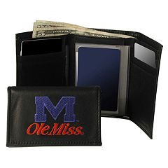 University of Mississippi Rebels Trifold Leather Wallet