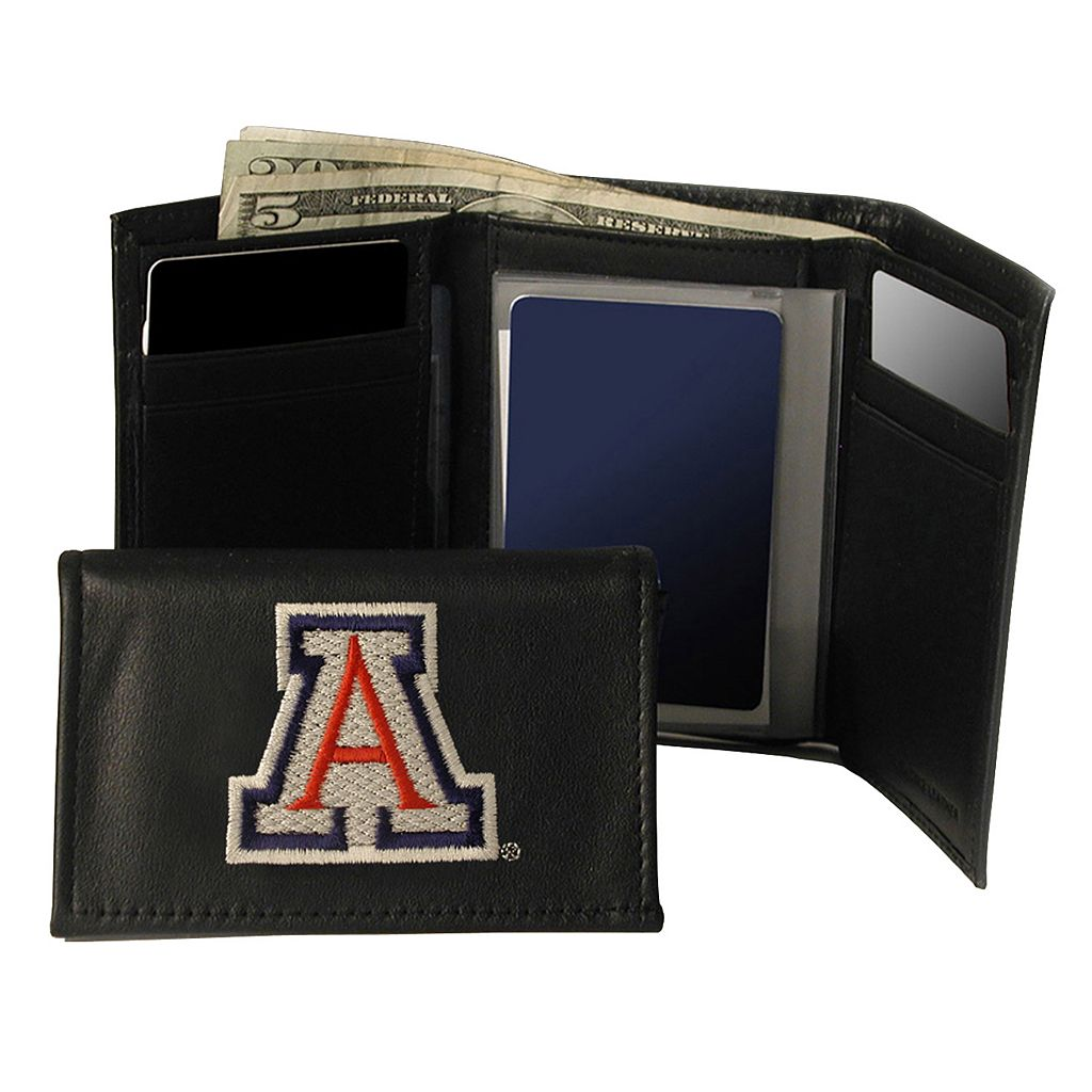 University of Arizona Wildcats Trifold Leather Wallet