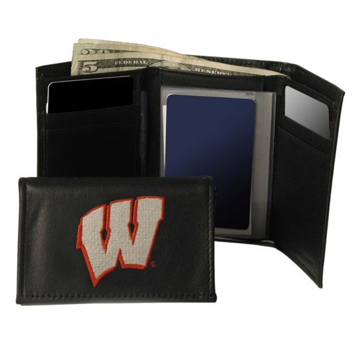 University of Wisconsin Badgers Trifold Leather Wallet