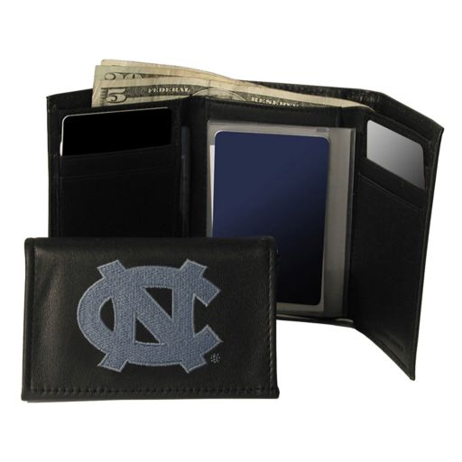 University of North Carolina Tar Heels Trifold Leather Wallet