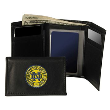 University of Notre Dame Fighting Irish Trifold Leather Wallet