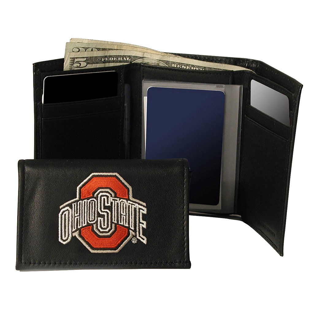 Ohio State University Buckeyes Trifold Leather Wallet