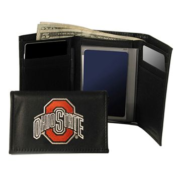 Ohio State University Buckeyes Trifold Leather Wallet