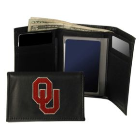 University of Oklahoma Sooners Trifold Leather Wallet