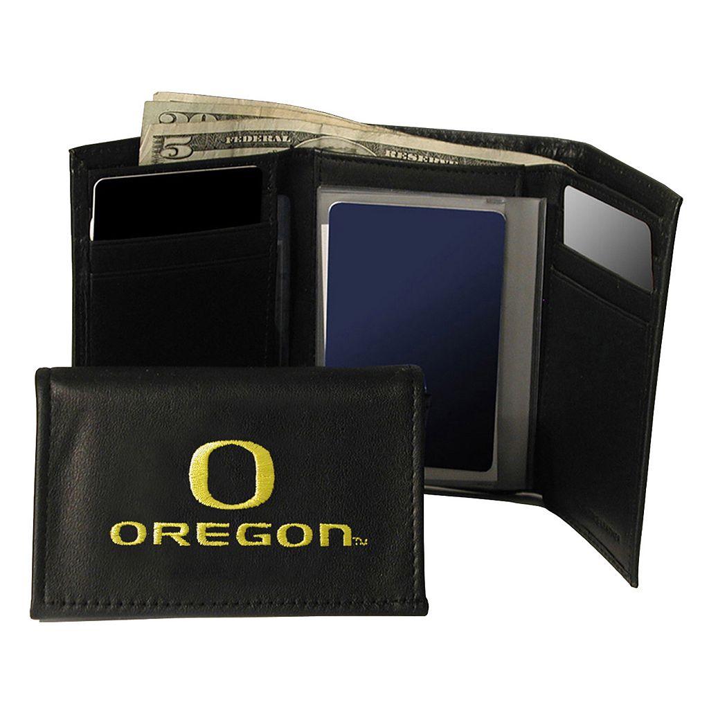 University of Oregon Ducks Trifold Leather Wallet