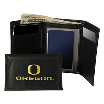 University of Oregon Ducks Trifold Leather Wallet
