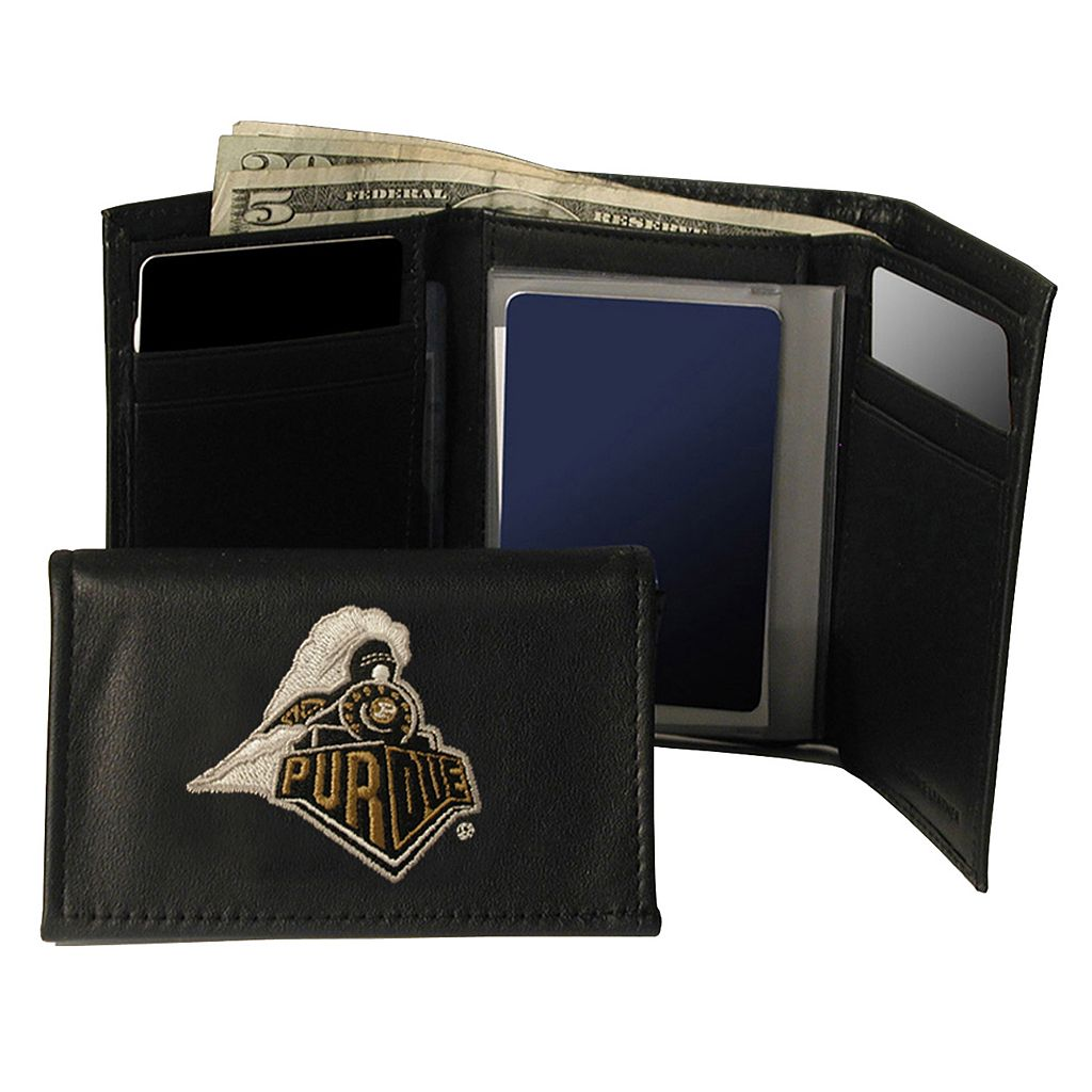 Purdue University Boilermakers Trifold Leather Wallet
