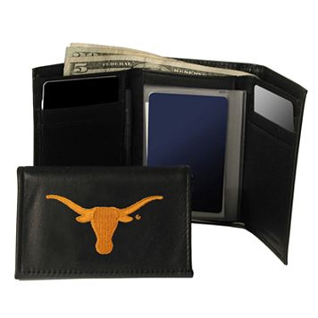 University of Texas Longhorns Trifold Leather Wallet