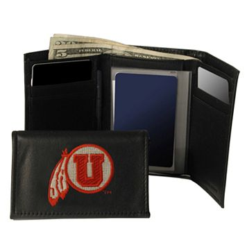 University of Utah Utes Trifold Leather Wallet
