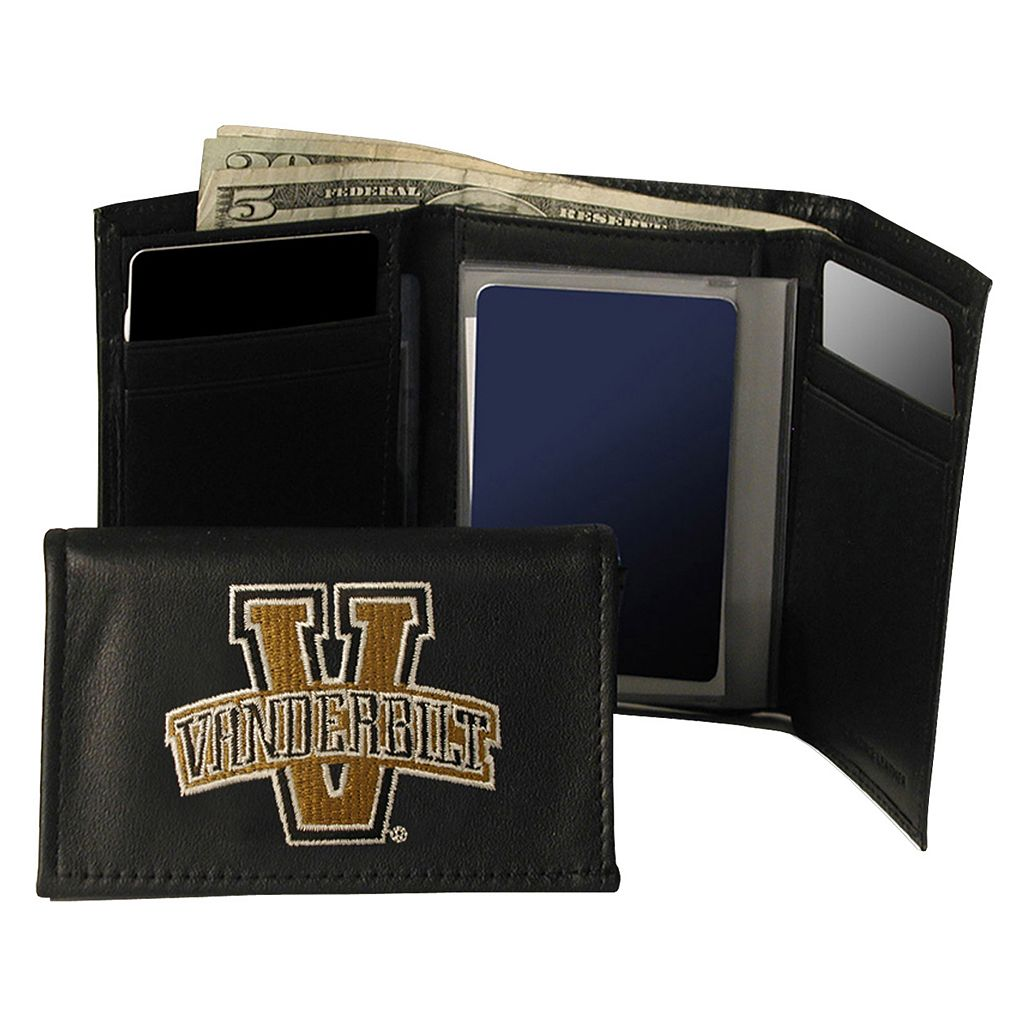 Vanderbilt University Commodores Trifold Leather Wallet