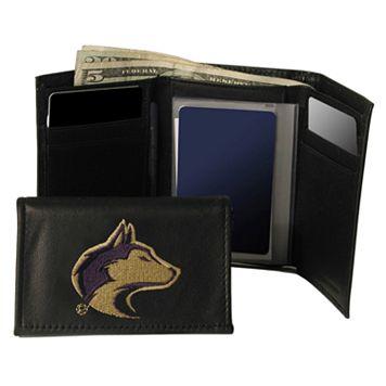 University of Washington Huskies Trifold Leather Wallet